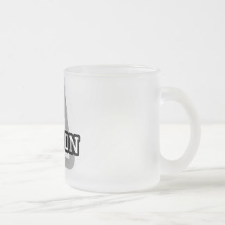 A is for Ashton Frosted Glass Coffee Mug