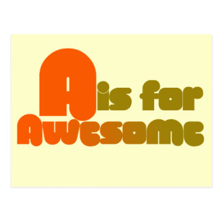 A is for Awesome Postcard