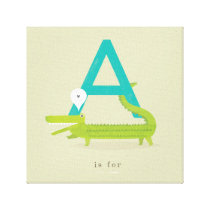 A is for... canvas print