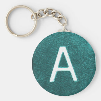 A is for..... in blue/green keychains