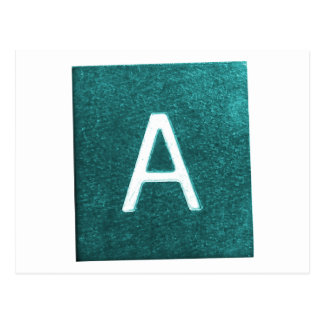 A is for..... in blue/green postcards