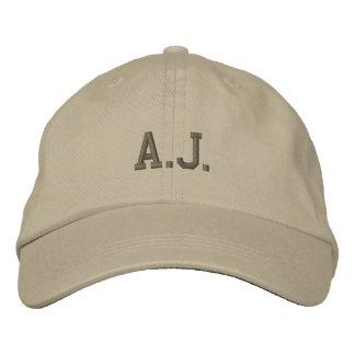 A.J.  Gorra de béisbol/gorra bordados nombre