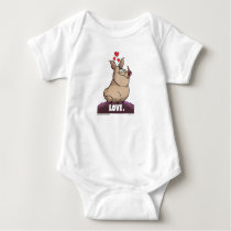 "A. J. HOGG ""LOVE"" BABY ONE-PIECE - BABY BODYSUIT"
