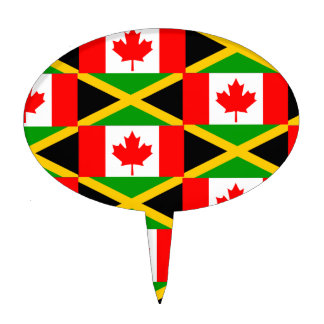 a jamaican canadian cake topper