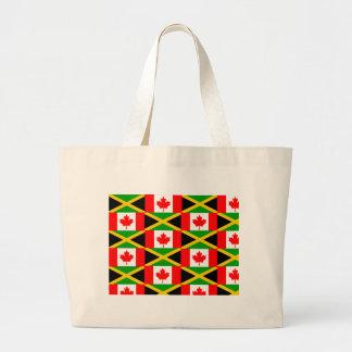 a jamaican canadian canvas bag