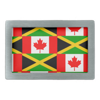 a jamaican canadian rectangular belt buckle