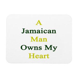 A Jamaican Man Owns My Heart Rectangular Magnets