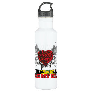 A Jamaican Stole my Heart 24oz Water Bottle