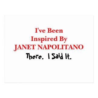 A Janet Napolitano me he inspirado Postal