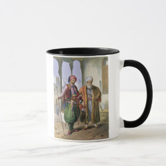 A Janissary and a Merchant in Cairo, illustration Mug