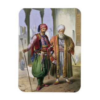 A Janissary and a Merchant in Cairo illustration Magnets