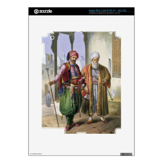 A Janissary and a Merchant in Cairo, illustration Skins For iPad 3