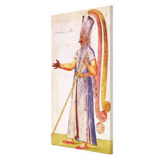 A Janissary or soldier, 1567 Stretched Canvas Prints