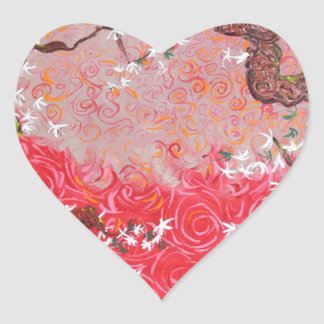 A Japanese Spring Heart Sticker