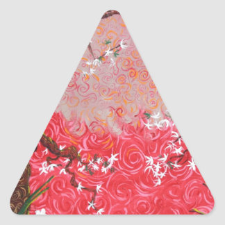 A Japanese Spring Triangle Sticker