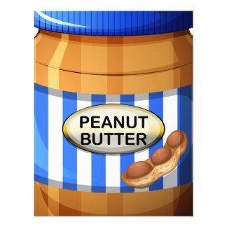 A jar of peanut butter letterhead