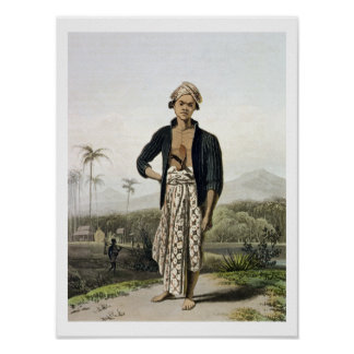 A Javan of the Lower Class, plate 2 from Vol. I of Poster