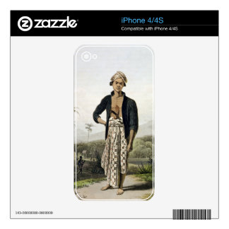 A Javan of the Lower Class, plate 2 from Vol. I of Skins For iPhone 4S