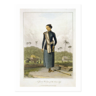 A Javan Woman of the Lower Class, plate 3 from Vol Postcard