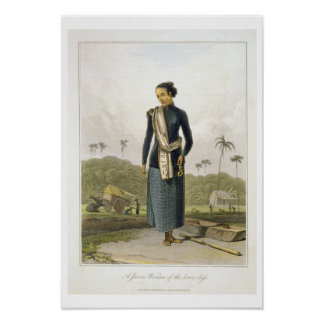A Javan Woman of the Lower Class, plate 3 from Vol Print