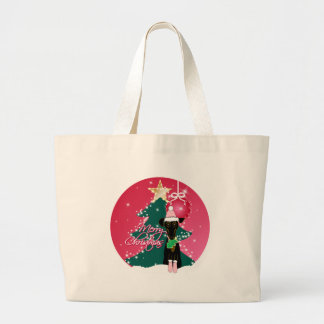 A Jazzy Christmas Large Tote Bag