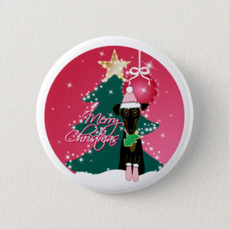 A Jazzy Christmas Pinback Button