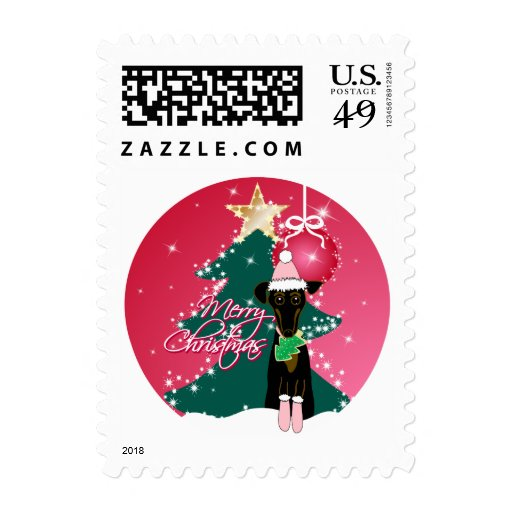 A Jazzy Christmas Postage Stamp