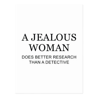 A Jealous Woman Postcard