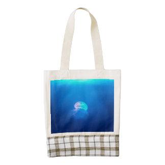 A Jellyfish Zazzle HEART Tote Bag