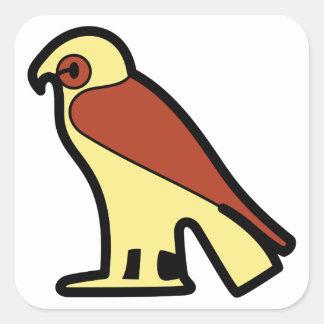 A jeroglífica egipcia pegatina cuadrada