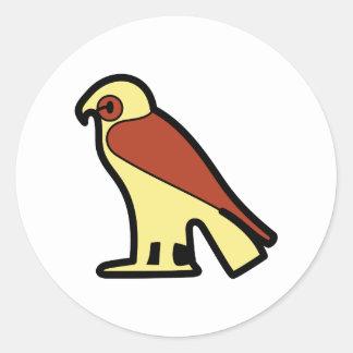 A jeroglífica egipcia pegatina redonda