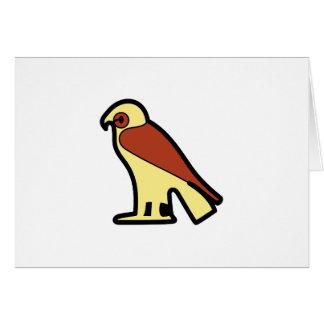 A jeroglífica egipcia tarjeta de felicitación