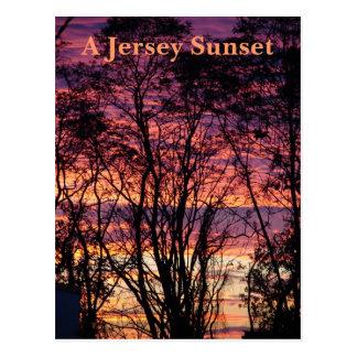 A Jersey Sunset Postcard