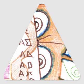 A Jesters Math Triangle Sticker