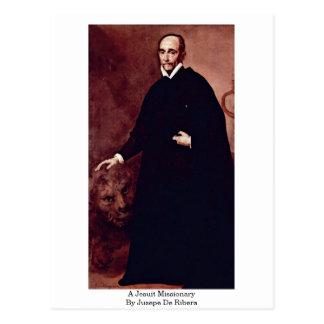 A Jesuit Missionary By Jusepe De Ribera Postcard