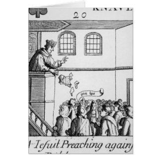 A Jesuit Preaching Against Our Bible Card