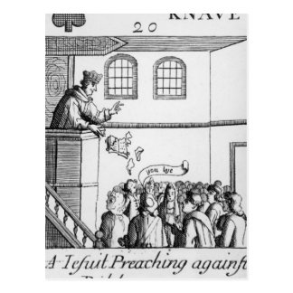 A Jesuit Preaching Against Our Bible Post Card