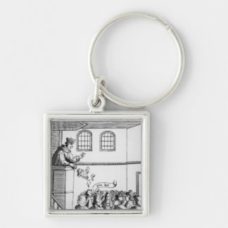 A Jesuit Preaching Against Our Bible Silver-Colored Square Keychain