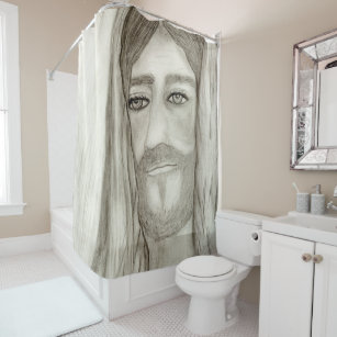 A Jesus Shower Curtain