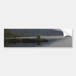 A jetty pushing out into the waters of Loch Ness Car Bumper Sticker