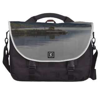 A jetty pushing out into the waters of Loch Ness Commuter Bag