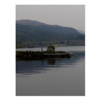 A jetty pushing out into the waters of Loch Ness Post Cards