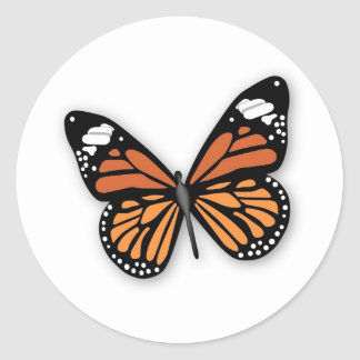 A Jeweled Monarch Butterfly Classic Round Sticker