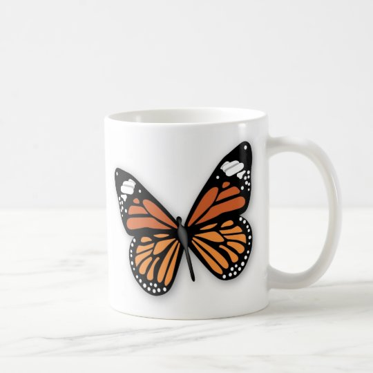 A Jeweled Monarch Butterfly Coffee Mug