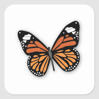 A Jeweled Monarch Butterfly Square Sticker