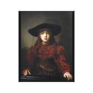 A Jewish Bride - Rembrandt - 1641 Canvas Print
