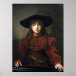 A Jewish Bride - Rembrandt - 1641 Poster
