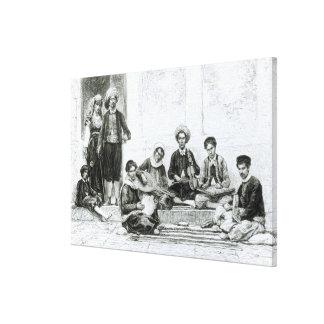 A Jewish Concert, Tlemcen Canvas Print