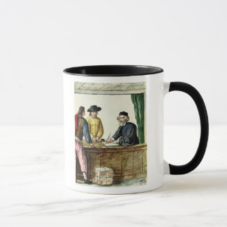 A Jewish Shopkeeper With Two Clients Mug