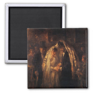 A Jewish Wedding by Jozef Israels - Circa 1903 2 Inch Square Magnet